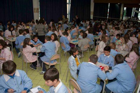 Escolares Italianos jugando al Bridge