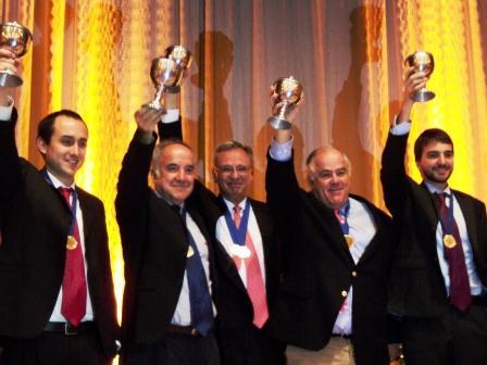 Equipo Robles: Marcelo Caracci, José Manuel Robles, Benjamín Robles, Joaquín Pacareu, Roberto García