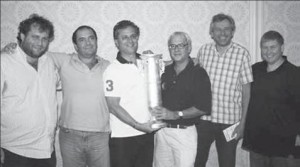 Pierre Zimmermann; Fulvio Fantoni, Claudio Nunes, Zimmermann, Johnston, Tror Helness y Geir Helgemo (not pictured Frank Multon)