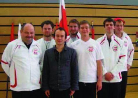 Poland's Third Title: Stanislaw Gołebiowski (coach), Piotr Zatorski, Kuba Wojcieszek, Paweł Jassem, Bartek Igła, Maciej Bielwski, Piotr Tuszyñski