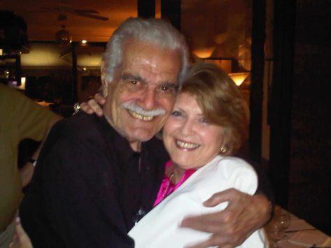 Un abrazote con Omar Sharif