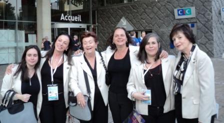 Brasil Damas: Paula David, Leda Pain, Agota Mandelot, Sylvia Mello, Isabella Vargas y Heloisa Nogueira