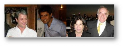 Fernando Aguad, Gonzalo Rubio, Loreto Cueva y Marcelo Caracci