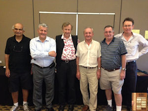 Ganadores del Open - Avi Kanetkar, Robert Krochmalik, Paul Lavings, George Bilski, Terry Brown, Matthew Thomson