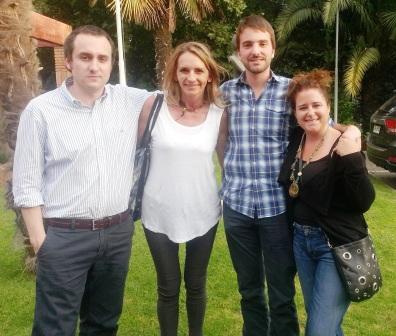 Benjamin Robles, Karin Schacht, Joaquin Pacareu y Ximena Aldunate