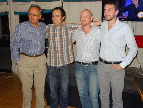 JM y Benjamin Robles, Kevin Bathurst y Joaquin Pacareu