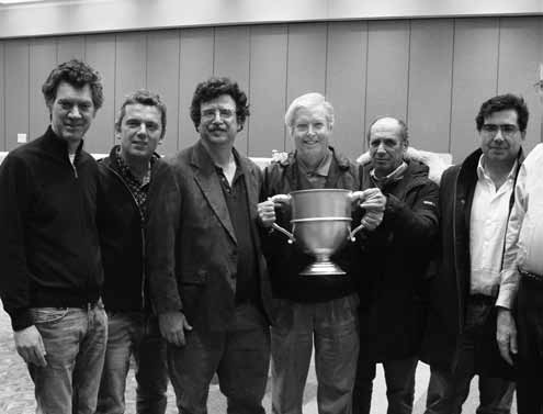 The Cayne team won the Reisinger in 2010 and 2011: Giorgio Duboin, Antonio Sementa, Michael Seamon, James Cayne (captain), Lorenzo Lauria and Alfredo Versace.