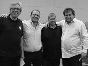 Tor Helness, Claudio Nunes, Geir Helgemo and Claudio Nunes