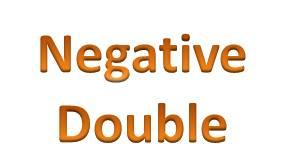 Negative Double