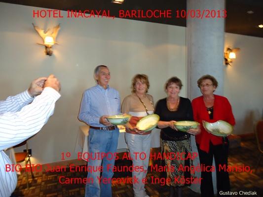 Bariloche 2013: Ganador Alto Handicap