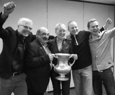 Sabine Auken, Morten Bilde, Roy  Welland y Dennis Bilde.
