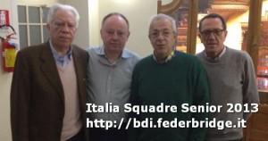 Antonio Bardin, Paolo Uggeri, Franco Garbosi, Silvio Tosi