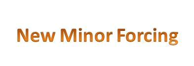 New Minor Forcing