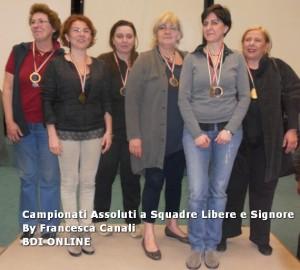 1° Ladies Serie A, Gir.B: PISTONI - NUOVO BRIDGE INSIEME (L. Pistoni, M. Biagiotti, O. Cambon, D. Giuliani, T. Magelli, N. Tessitore)