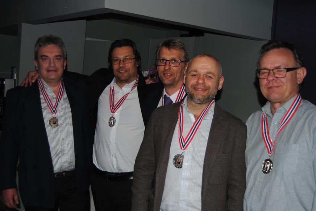 Tarjei Eck Hansen, Espen Larsen, Håvard Larsen, Idar Lyngen y Jørn Åselid