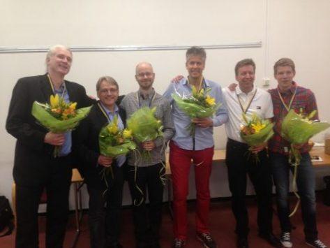 Jonas Petersson, Krister Ahlesved, Olle Wade Mark, Jan Selberg, Niklas Warne y Michael Grönkvis