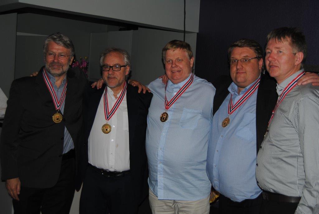 Tolle Stabell, Jon-Egil Furunes, Jon Aabye, Trond Hantveit, Sam Inge Høyland