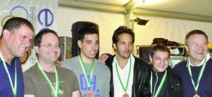 Isrmany, Alon Birman, Ilan Herbst, Ophir Herbst, Dror Padon, Josef Piekarek & Alexander Smirnov took the bronze medals.