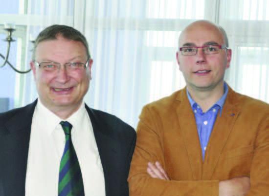 EBL President Yves Aubry con Niko Geldhof, Ostend's Alderman for Tourism.