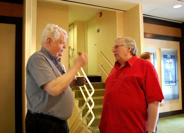 Bob Hamman and Eric Kokish by Peg Kaplan