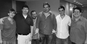 Grue Team: Joe Grue, Jacob Morgan, Brad Moss, Peter Bertheau, Thomas Bessis and Les Amoils.