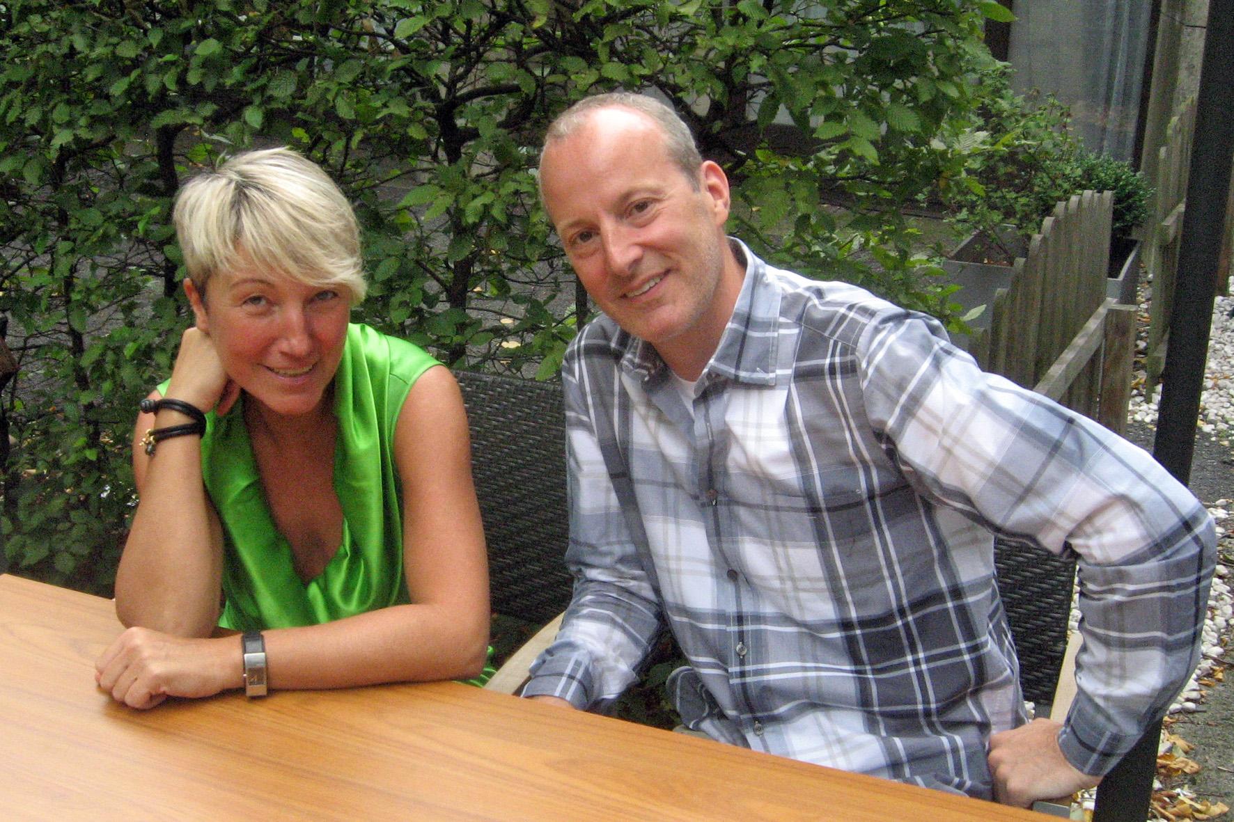 Sabine Auken y Roy Welland