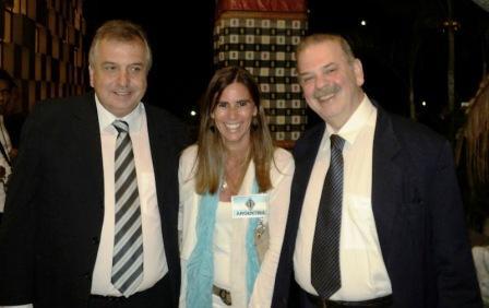 Eduardo Barcellos; Cecilia Previde y Sergio Aranha