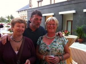 Nicola Smith, Fernando Lema e Sally Brock