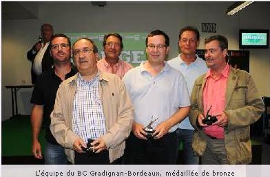 Equipo Gradignan, Tercero Interclub de 1º Francia 2013