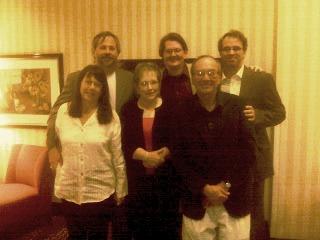 Jade Barrett, Me, Richard Helams, front -- Karen Barrett, Anne Dawson, Jim Looby
