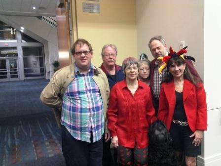Back: Nathan Roser, James Jacobson, Anne Dawson, GS Jade Barrett, Front: Karen Lee Barrett, Dr Donna Wood