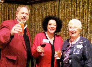 GS Jade Barrett, Bermuda Bridge Association President Rachael Gosling, ACBL President Phyllis Harlan