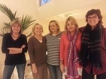 Equipo Damas: Nuria Almirall, Marta Almirall, María Panadero, Mª Carmen Babot, Ana Francés, Carmen Cafranga