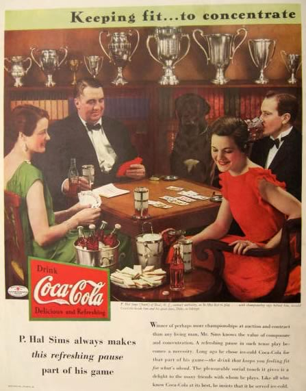 Hal Sims; playing in a Coke Add
