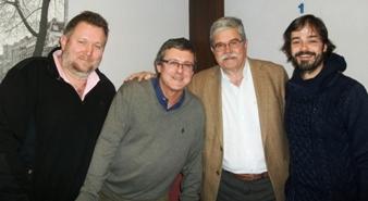 Luc Soudan, Nacho Jover, Xavier Masana y LLuis Malla