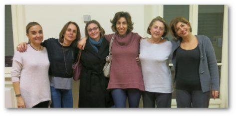 Margherita Chavarria Kaifmann e Francesca Piscitelli, Caterina Ferlazzo e Gabriella Manara, Simonetta Paoluzi e Ilaria Saccavini