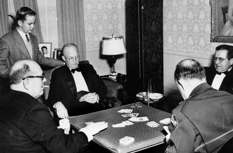 Eisenhower playing bridge