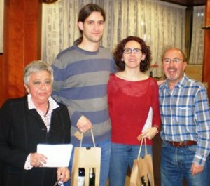 Ramon Gomez y Maria Mansilla,subcampeones del IV Torneo Bridge y Cava