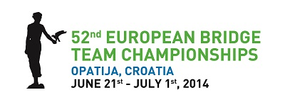 52 european bridge team championship - logo