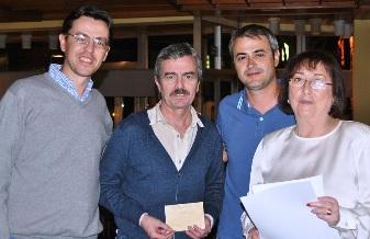 Jordi Sabate, Amadeo Llopart, Ramon Malla y Marisa Lopez Prieto