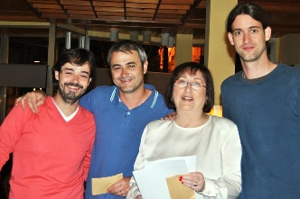 Luis y Ramon Malla, Marisa Lopez Prieto y Ramon Gomez