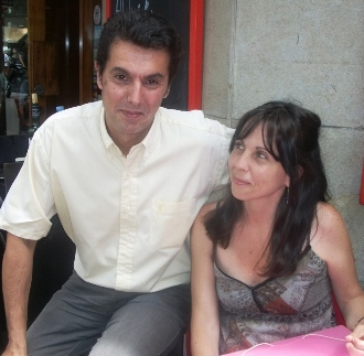 Lluis Almirall y Angie Bach