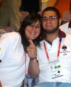 Nathalie Sar Shalom y Luis Leanez