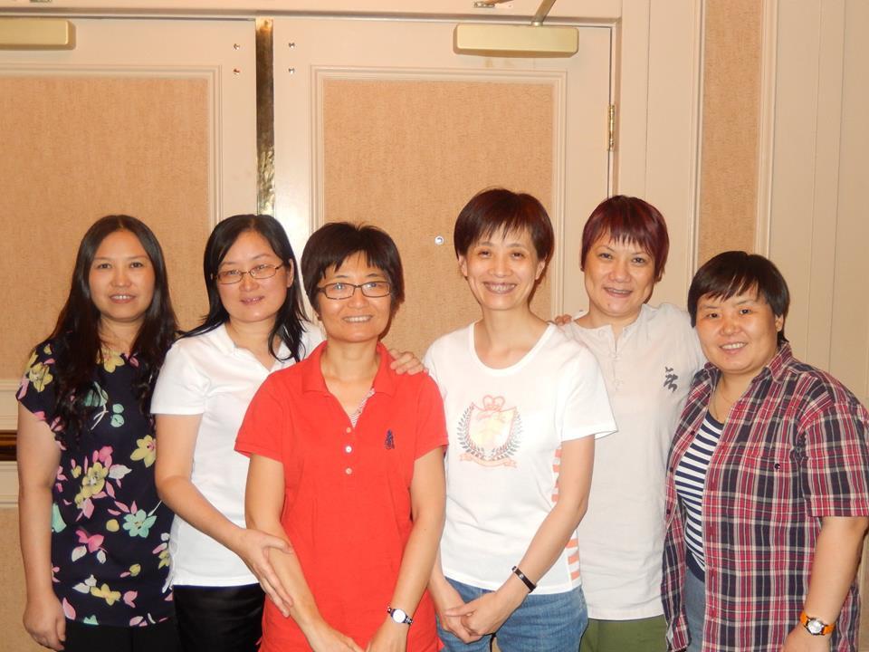Ganadoras de la Wagar Women's KO:  China Red - Lu Yan,  Ran Jingrong, Wu Shao Hong,  Wang Wenfei,  Zhang Yu y Wang Hongli.