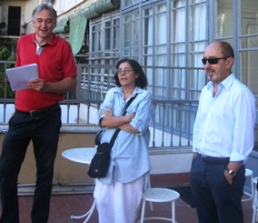 Xavi Goberna, Mari Carmen Babot y Angel Cobas