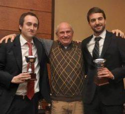 Benjamin Robles, Eduardo Rosen y Joaquín Pacareu