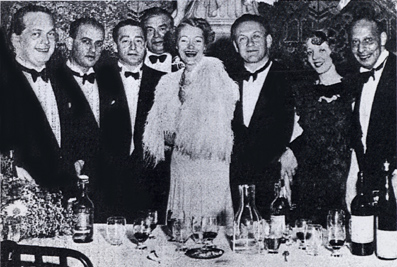 The winning Austria open team at the 1937 world championships: Karl Schneider, Hans Jellinek, Edouard Frischauer, Paul Stern (captain), Josephine Culbertson (US), Walter Herbert, Helen Sobel (US), and Karl von Blöhdorn. Missing: Udo von Meissl.