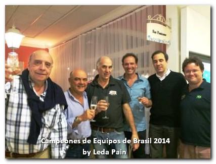 Marcelo Branco, Gabriel Chagas, Ernesto Muzzio, Alejandro Bianchedi, Carlos Pellegrini y Paulo Brum