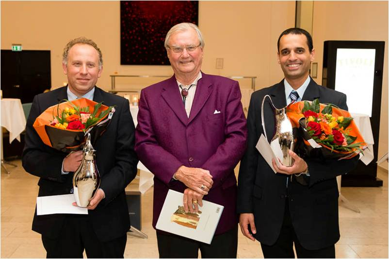The winners of the CBI in 2013  Michael Barel – Yaniv Zack  with His Royal Highness the Prince  Consort of Denmark