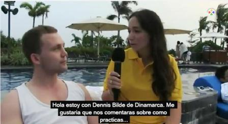 Virginia Chediak con Dennis